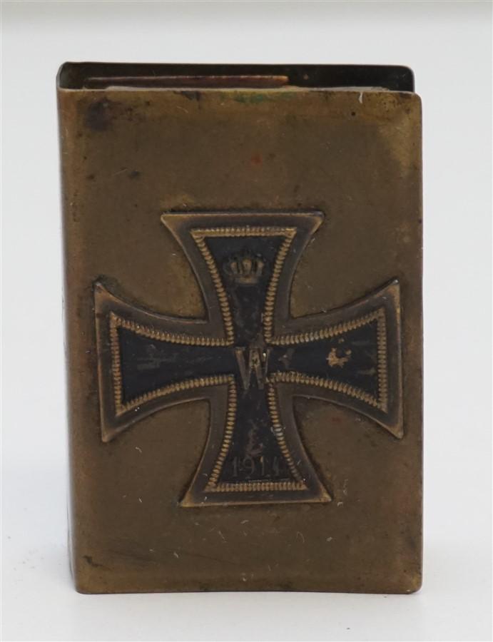 WWI GERMAN IRON CROSS MATCH BOX COVER