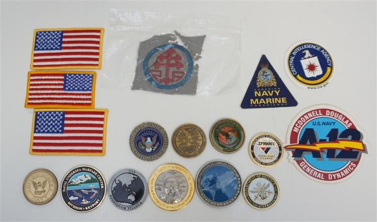 MILITARY COINS - PATCHES - CIA -