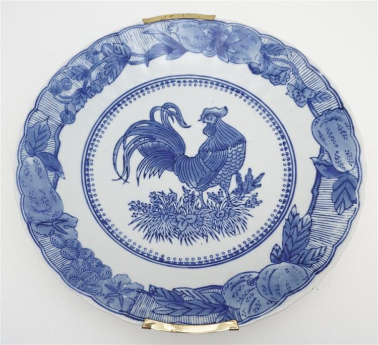 CHINESE EXPORT ROOSTER CHARGER