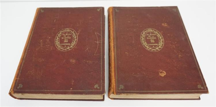 1929 VOLUME I & II L'ALBUM DE LA GUERRE