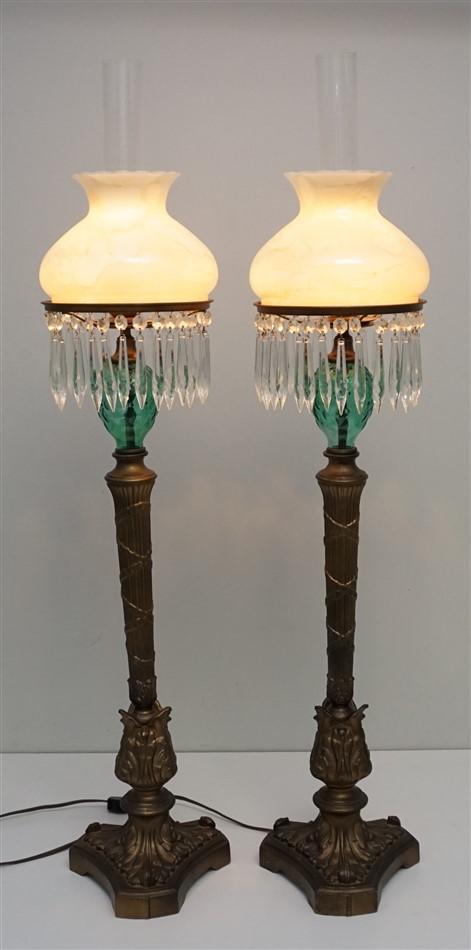 PAIR VINTAGE GIM TABLE LAMPS
