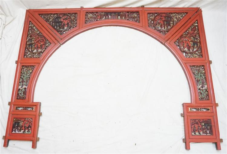 CHINESE TEMPLE ARCHWAY c. 1880