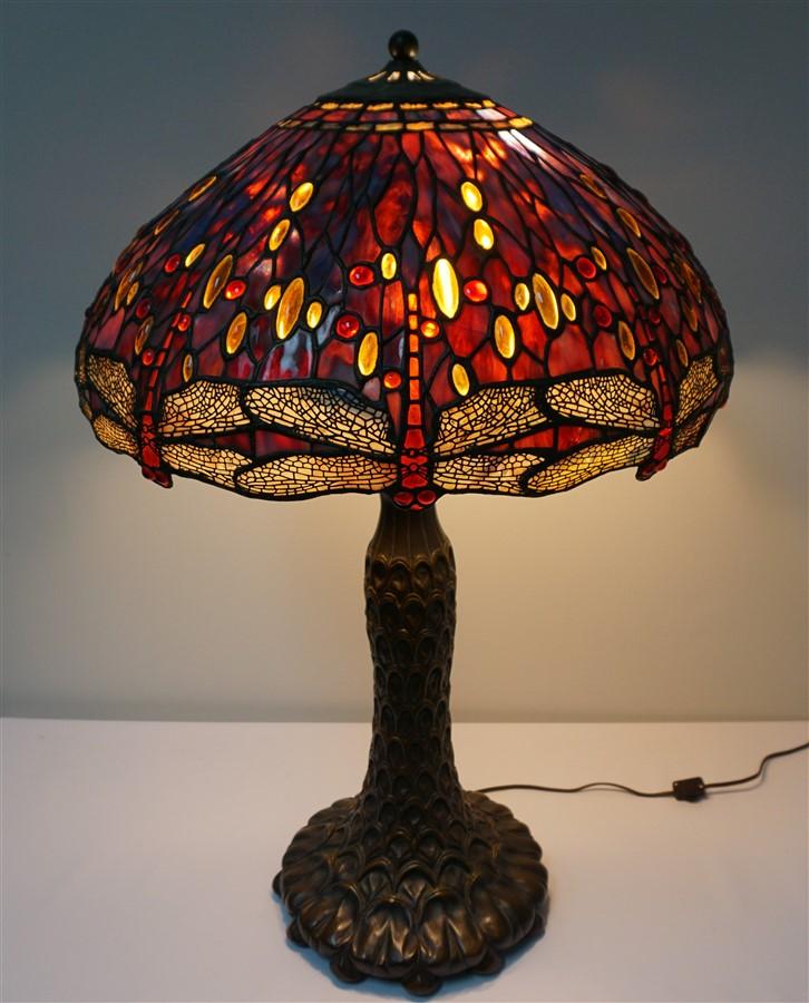 DRAGONFLY TIFFANY STYLE LAMP