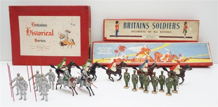 3 BOXES 1946-52 BRITAINS SOLDIERS
