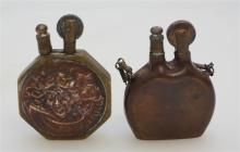 2 WWI TRENCH ART LIGHTERS COPPER