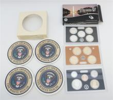2PC COINS & WHITE HOUSE COASTERS