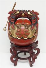 JAPANESE BUDDHIST TEMPLE DRUM