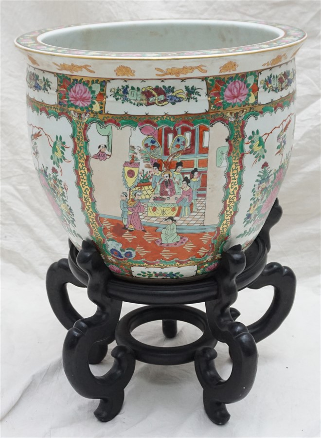 Large chinese porcelain fish bowl for Chinese fish bowl