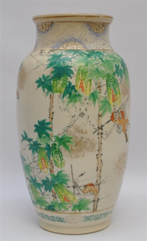 """1920S JAPANESE HAND PAINTED 12"""" VASE"""