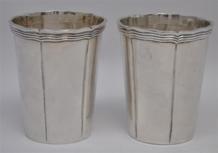 2 SANBORNS STERLING SILVER MINT JULEP CUPS