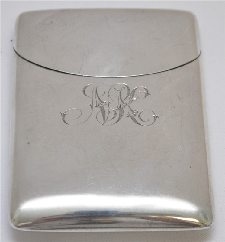 ENGLISH STERLING SILVER 1908 CARD / CIGARETTE CASE
