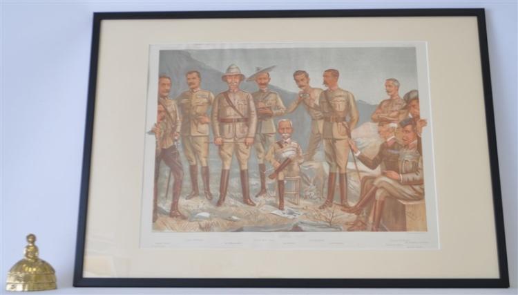 1900 FRAMED A GENERAL GROUP VANITY FAIR SPY