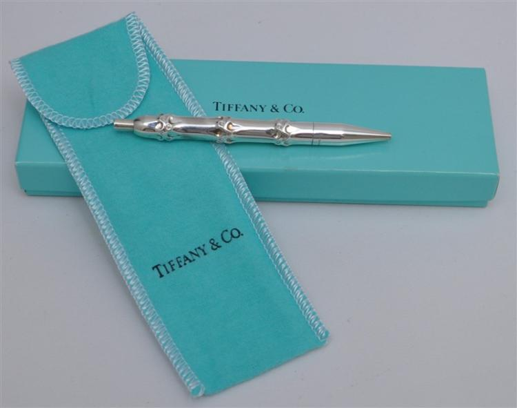 TIFFANY STERLING SILVER BAMBOO PEN IN ORIG BOX