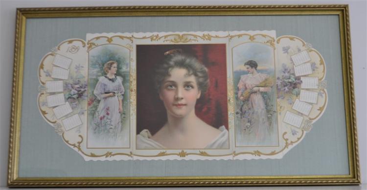 1899 YOUTH'S COMPANION FRAMED CALENDAR