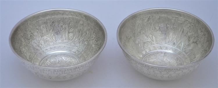 2 SOLID 900 SILVER EGYPTIAN REVIVAL 1922 BOWLS