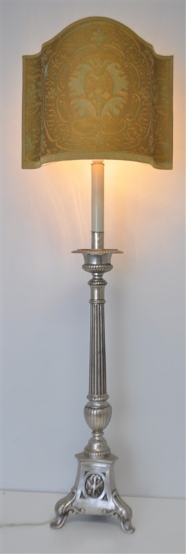 TALL SPANISH COLONIAL ALTAR CANDLESTICK LAMP
