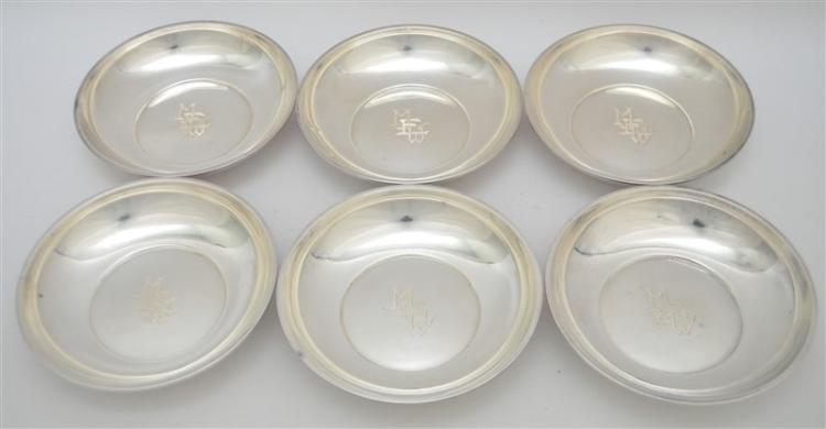 6 STERLING SILVER BOWLS 1912 BERRY & WHITMORE