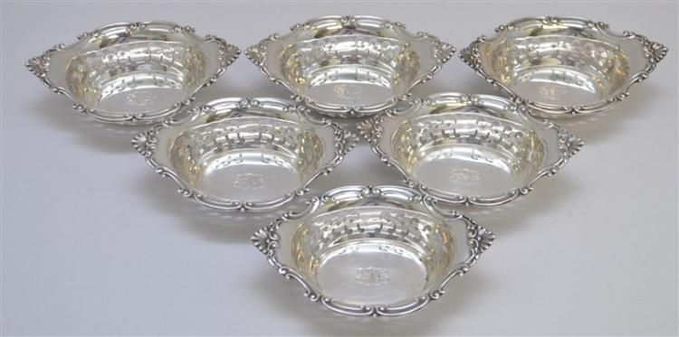 6 GORHAM STERLING SILVER CROMWELL NUT / MINT DISH