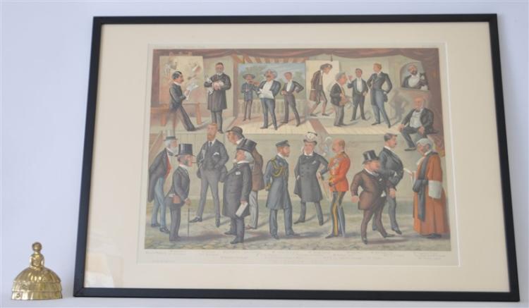 FRAMED 1890 NOTABLE MEN CHROMOLITHO VANITY FAIR