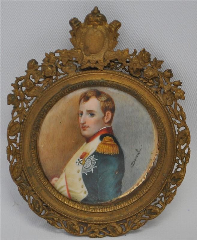 19th c FRENCH PORTRAIT MINIATURE NAPOLEON by DERVEL