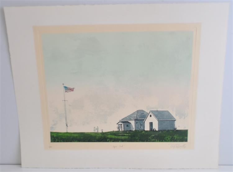 ROY PURCELL(AMERICAN B.1936) CAPE COD ETCHING