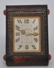 CHARLTON ART DECO SMALL TRAVEL CLOCK