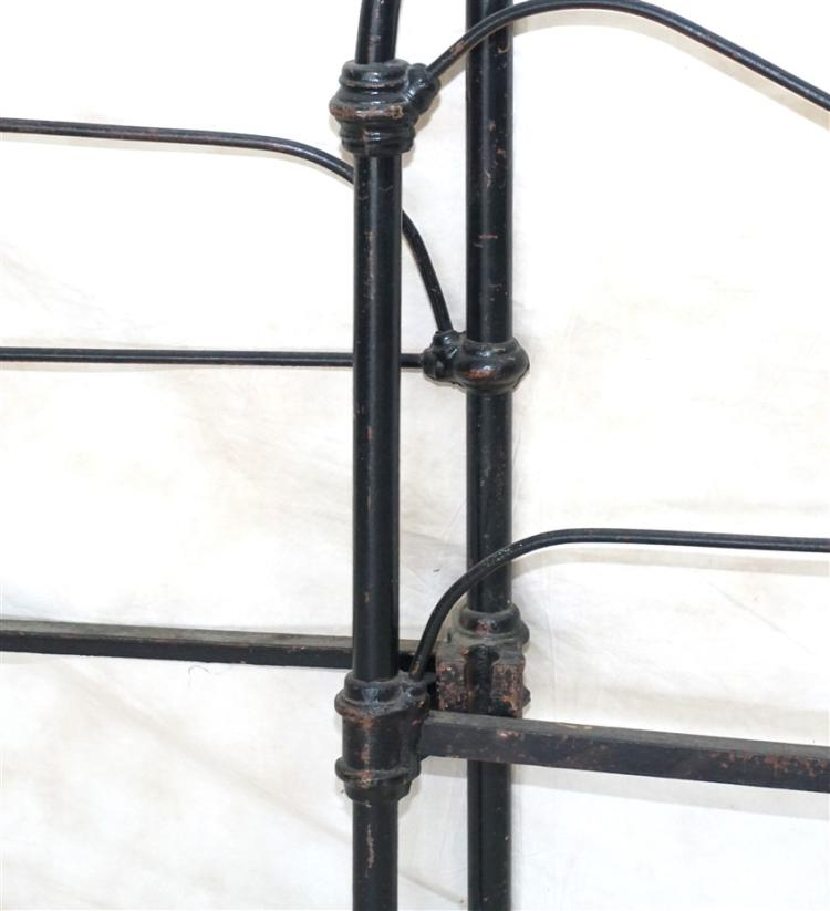 cast iron bed frame antique