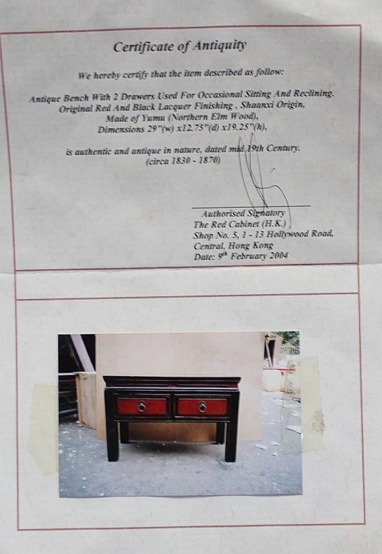 Astounding Antique Chinese Lacquer Bench Pdpeps Interior Chair Design Pdpepsorg
