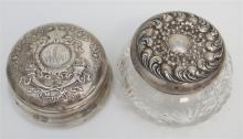2 STERLING SILVER DRESSER BOXES