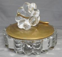 HEISEY CRYSTOLITE COVERED DISH