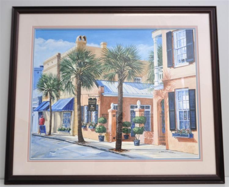 Original Gordon Wheeler Charleston Watercolor