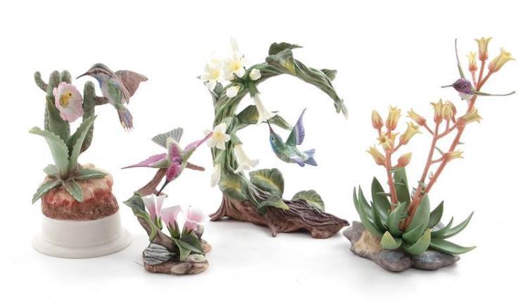Boehm porcelain hummingbirds (4pcs)