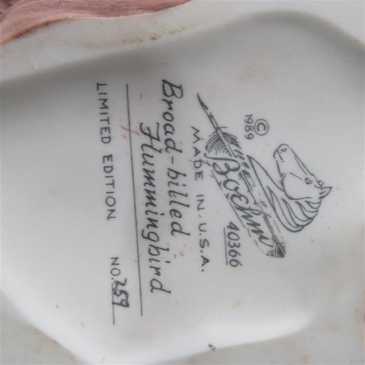Boehm porcelain songbirds (6pcs)