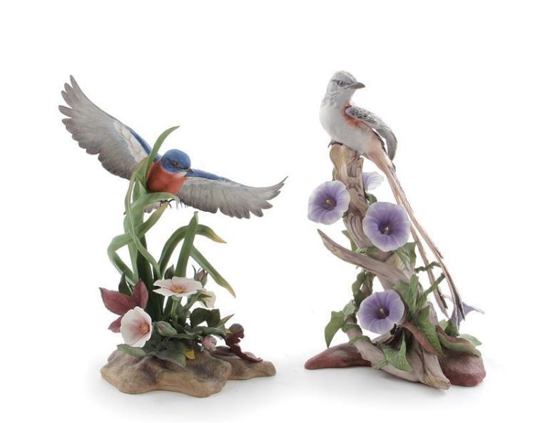 Boehm Eastern Bluebird and Scissor-Tailed Flycatcher (2pcs)