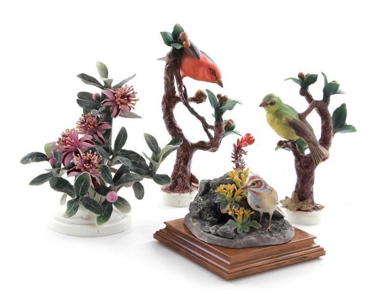Dorothy Doughty birds and plant (4pcs)