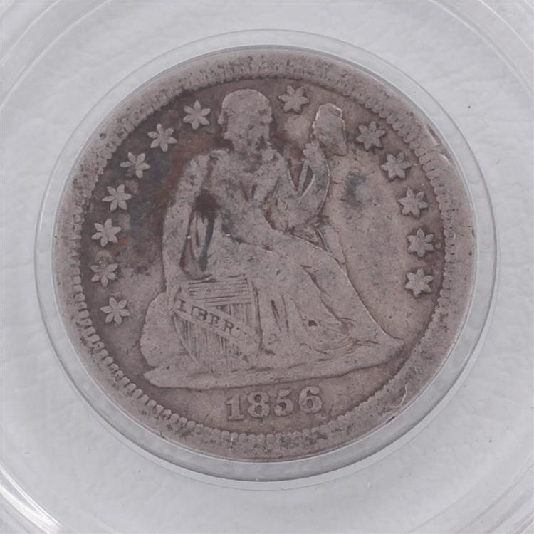 †1856-S Seated Liberty dime coin