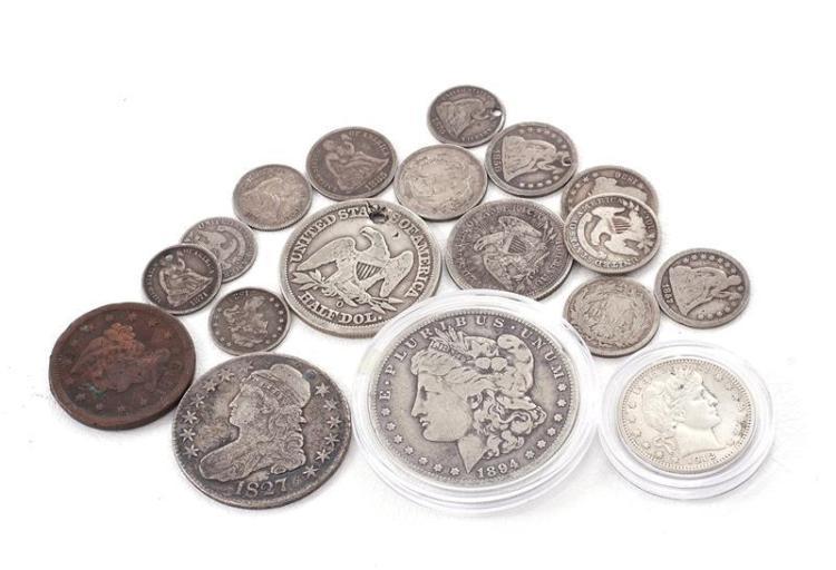 †Nineteenth century coins (18pcs)