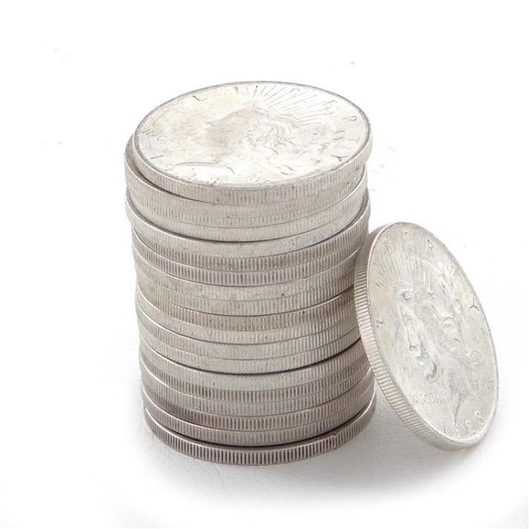 †Peace silver dollar coins (20pcs)