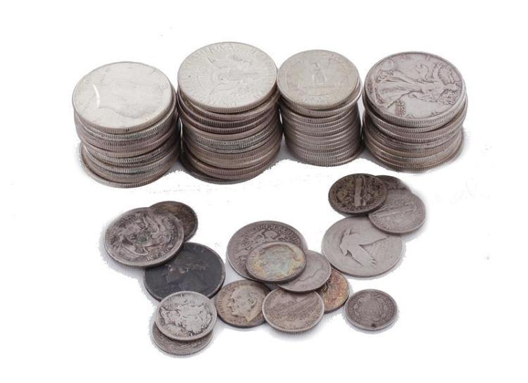 †Collection 90% silver coins (73pcs)