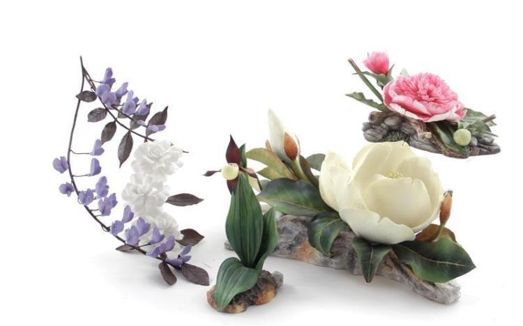 Boehm porcelain flowers (4pcs)