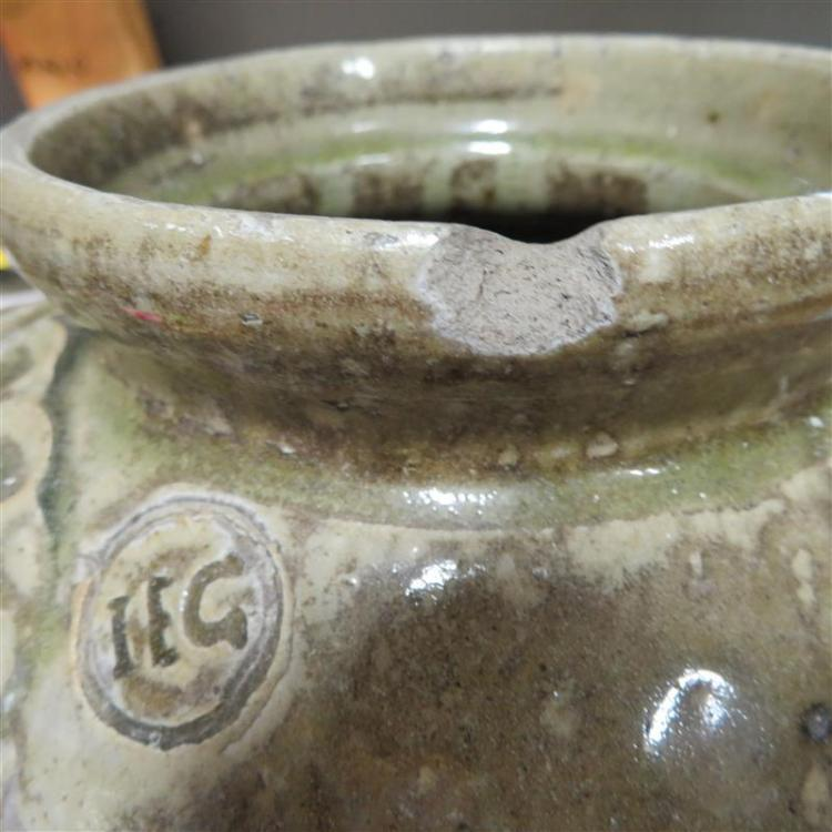Rare alkaline-glazed stoneware jar, Isaac E. Gay