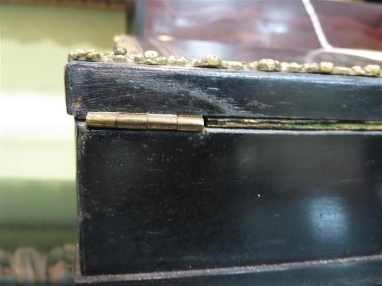 Continental ormolu-mounted ebonized-wood writing slope