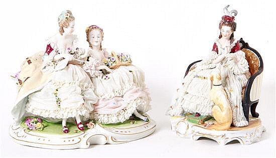 German porcelain figures (2pcs)
