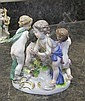 Image 10 for Meissen porcelain figural groupings of putti (3pcs)