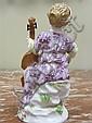 Image 3 for Meissen porcelain figures of performers (3pcs)