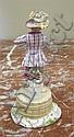 Image 9 for Meissen porcelain figures of performers (3pcs)