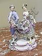 Image 2 for Meissen porcelain figures of romantic couples (3pcs)