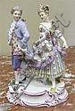 Image 3 for Meissen porcelain figures of romantic couples (3pcs)
