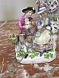 Image 6 for Meissen porcelain figures of romantic couples (3pcs)