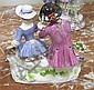 Image 7 for Meissen porcelain figures of romantic couples (3pcs)